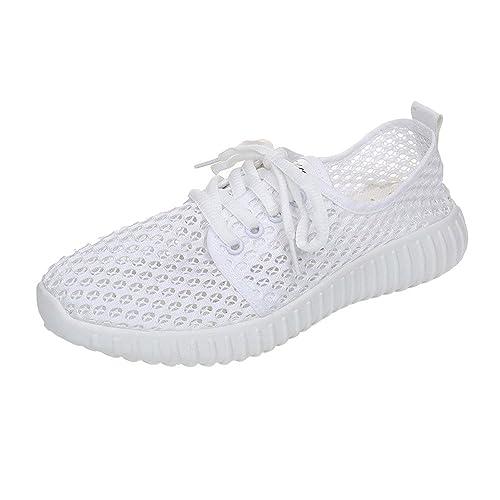 Tefamore Zapatillas de Deportivo para Mujer Primavera y Verano 2019 Moda Tefamore Cómodos Zapatos con Malla Cordones Señora Casual Calzado: Amazon.es: ...