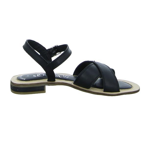 s.Oliver 5-28131-38 001 Damen Sandalette bis 30mm Absatz WmCvO