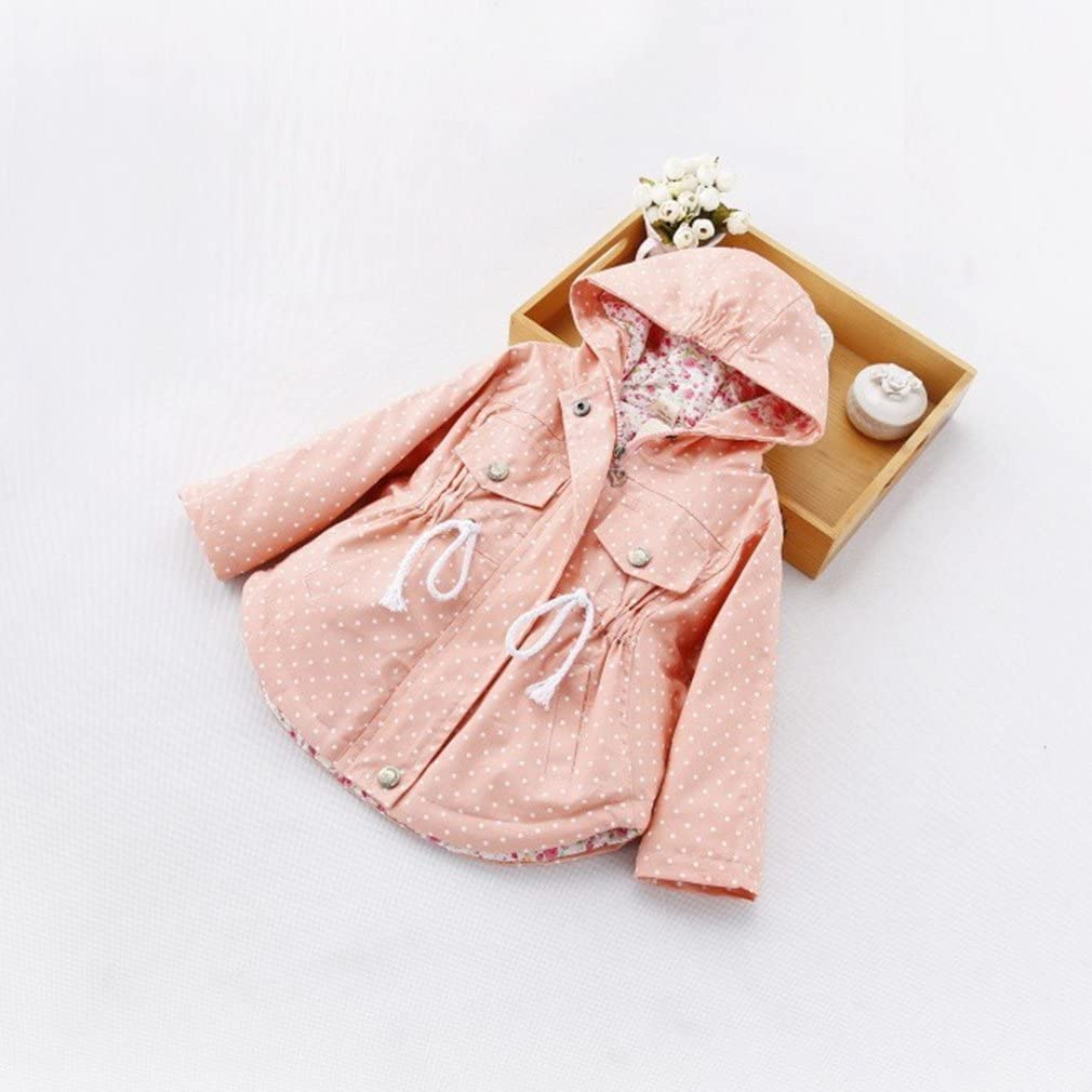 Nine Minow Baby Girls Clothes Outerwear Infant Dot Batwing Coat