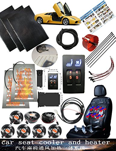 WATERCARBON He New Minimum Five Speed 12V Car Seat Hair Heating System Air Conditioning Modified Accessories For One