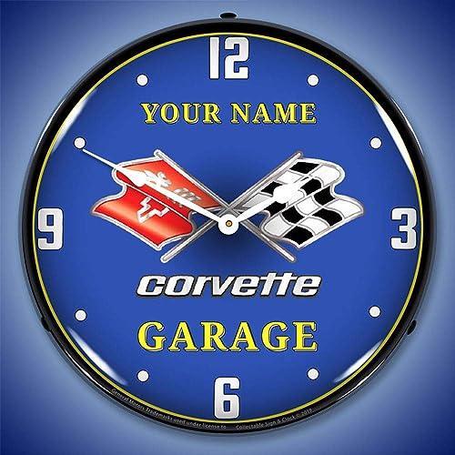 Personalized Custom C3 Corvette Garage LED Wall Clock
