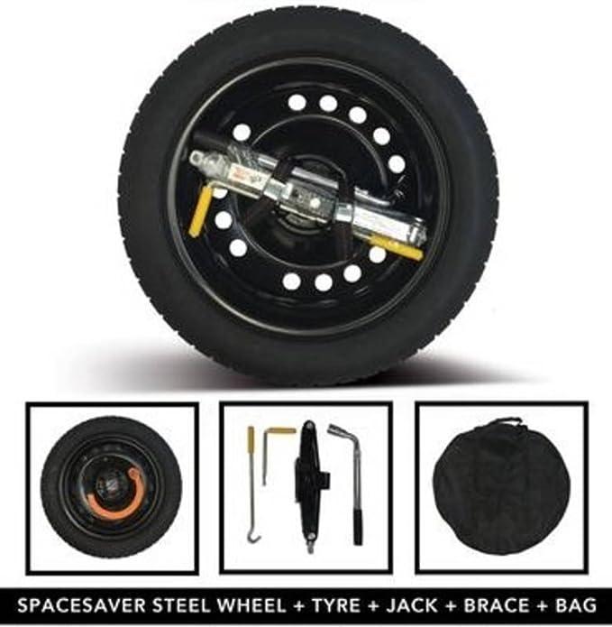Jaguar XE 6//2015 Onwards Steel Space Saver Wheel /& Tyre Kit