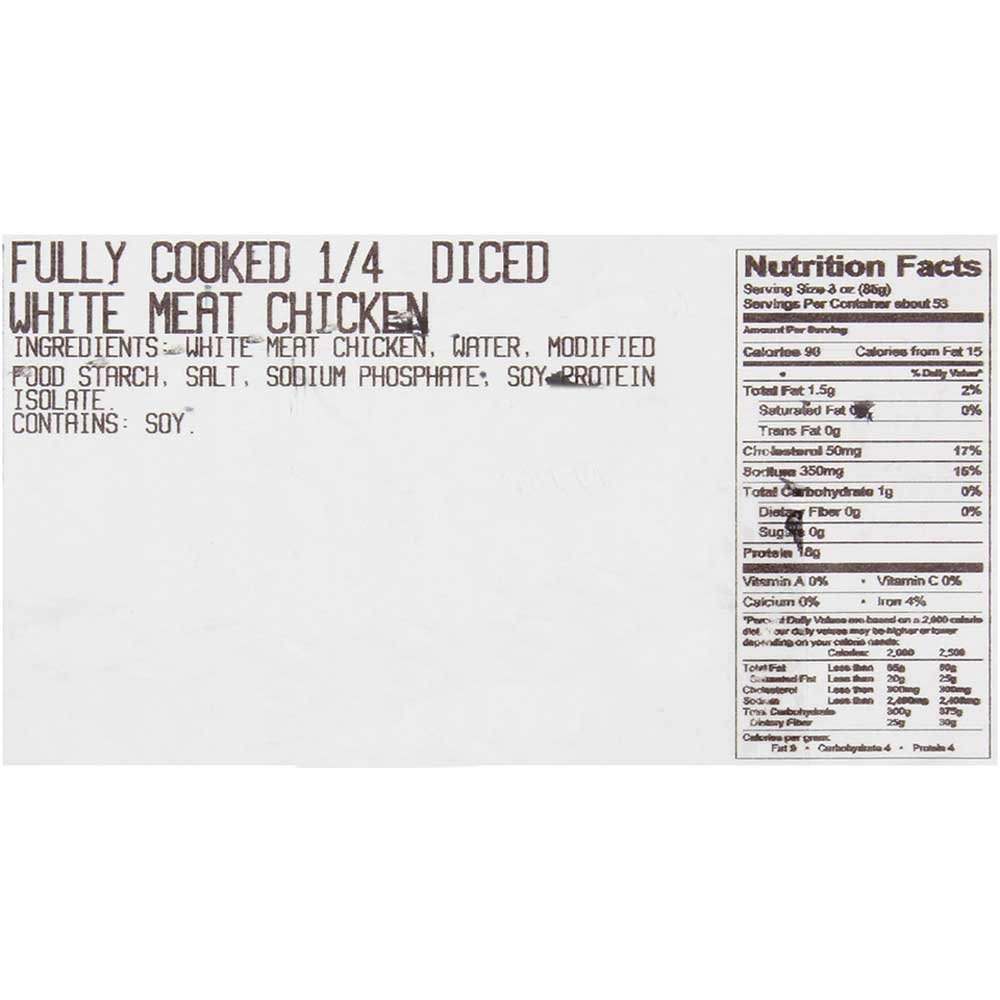 Dutch Quality House X Natural Shredded White Chicken Breast Meat, 5 Pound - 2 per case.