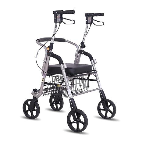 Ayuda a caminar Andador portátil, andador de cuatro ruedas ...