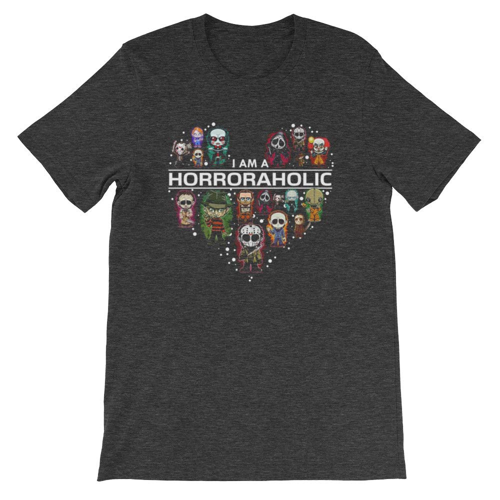 I Am A Horroraholic Halloween Day Unisex T-Shirt