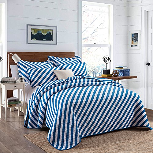 quilt cotton queen blue - 4