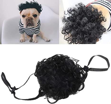ECMQS - Disfraz de Mascota Ajustable, Peluca Negra, Gorra para ...