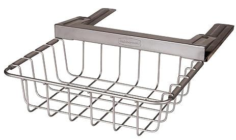 Rubbermaid Slide Out Under Shelf Storage Basket, Titanium (FG1H3200TITNM)