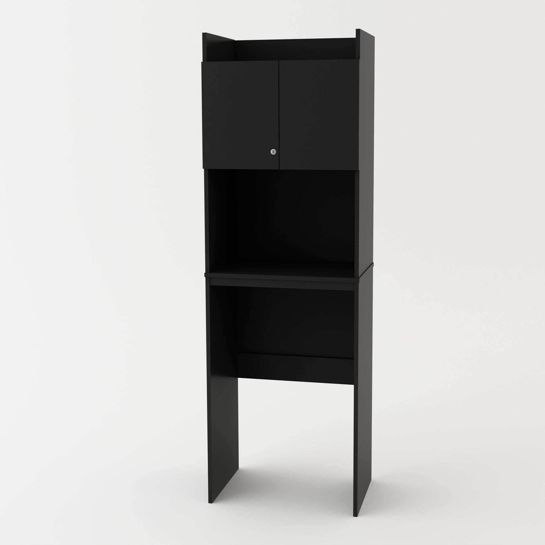 SystemBuild Ameriwood Clarkson Mini Refrigerator Storage Cabinet (Black)