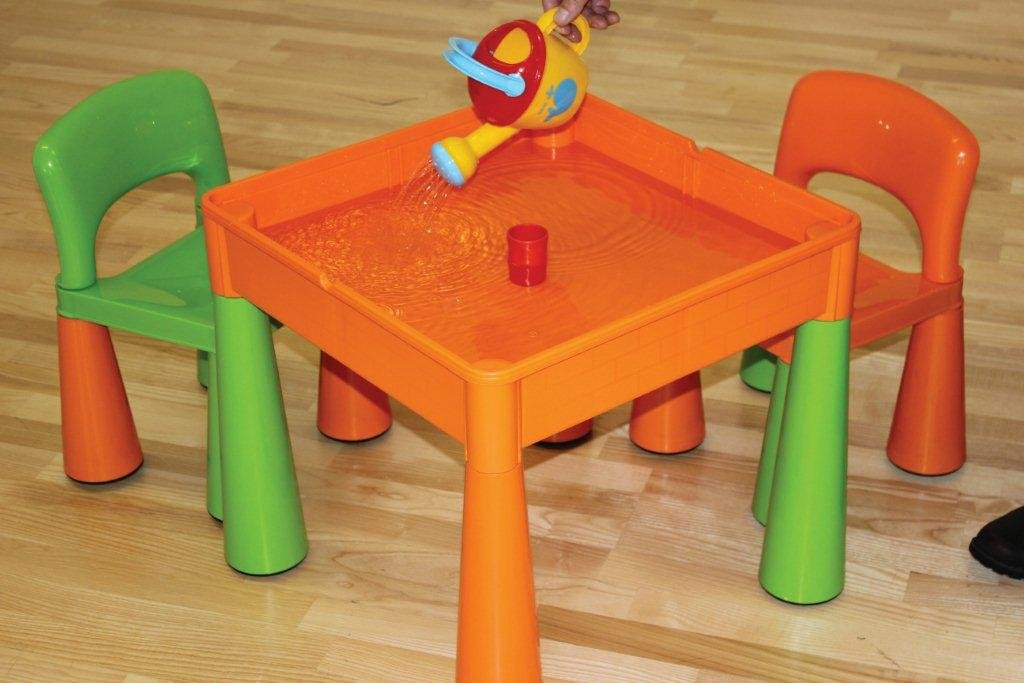 liberty house 5 in 1 activity table chairs with writing top lego