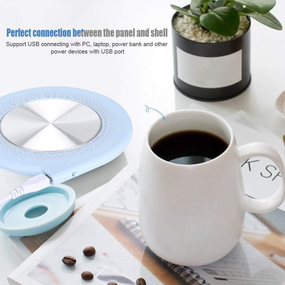 10W Desktop riscaldato caff/è e t/è per Ufficio casa Garsent Scaldatazze USB scaldatazze Multifunzionale 55 ℃ Tazza scaldatazze Rosa