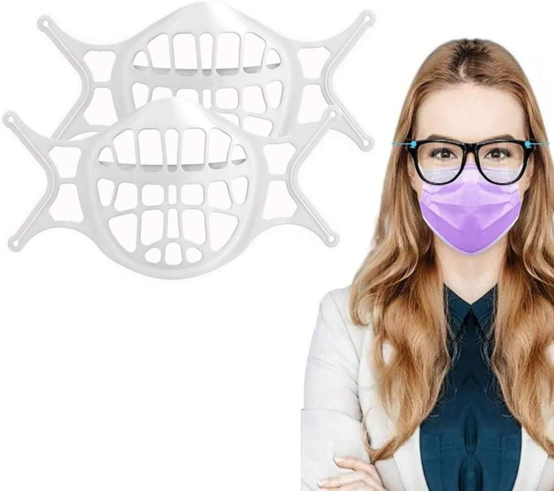 Soporte de silicona 3D, suave, reutilizable y lavable, marco de soporte interno de silicona, utilizado para la protección facial para los usuarios de gafas para reducir la niebla