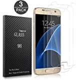 Samsung Galaxy S7 Screen Protector,XUZOU Tempered Glass 3D Touch Compatible,9H Hardness,Bubble (3Pack)