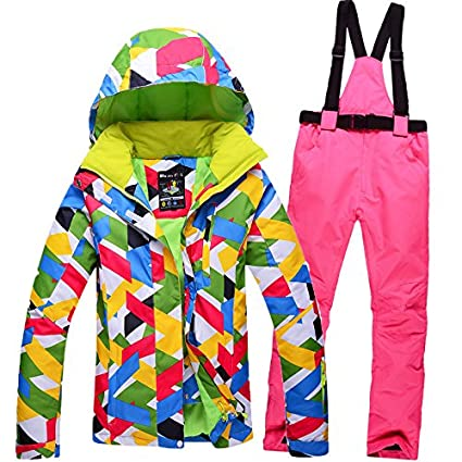 d32a4e036e GQY® Women s Ski Jacket with Pants Waterproof Thermal Warm Windproof  Wearable Ski Snowboard