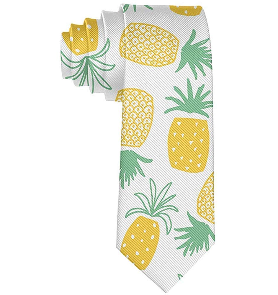 Corbata de hombre Piña amarilla Corbatas de poliéster de lujo ...