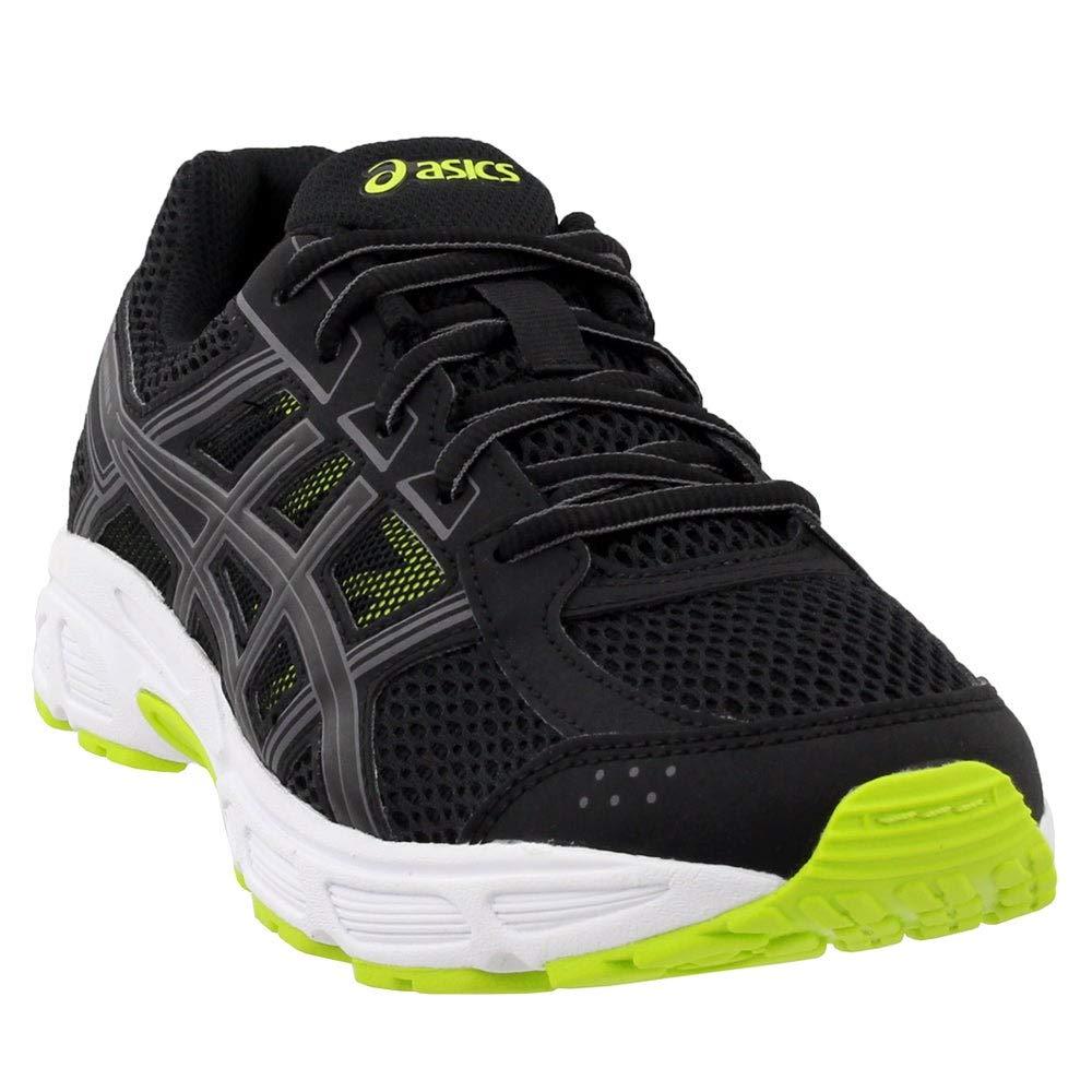 ASICS C707N Kid's Gel-Contend 4 GS Running Shoe, Black/Neon Lime - 7