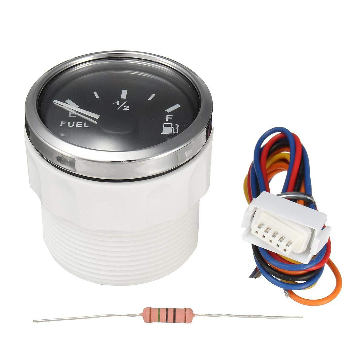 KUS Oil Fuel Level Gauge Meter Indicator 240-33ohm with Backlight 12V//24V 52MM 2