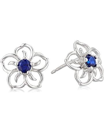 116c55263 Sterling Silver Sky Flower Stud Earrings