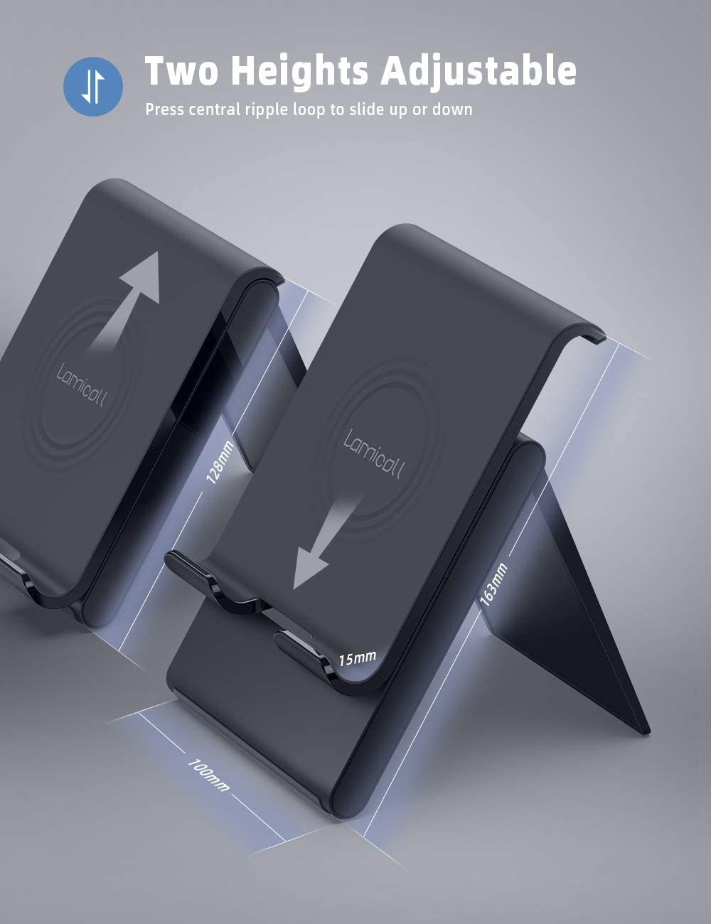 Support Dock pour 2019 Pad Pro 9.7//10.2//10.5//12.9 Pad Air 2 3 4 Lamicall Support Tablette Noir Support Tablette R/églable Samsung Tab S9 S8 S7 dautres Smartphones Pad Mini 2 3 4