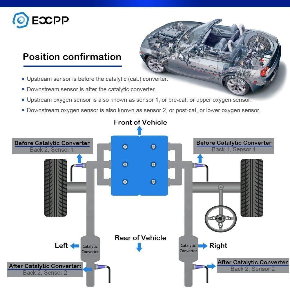 Oxygen Sensor,ECCPP Upstream+Downstream SG272 for 2003-2005 Chevrolet Blazer S10 4.3L 3PCS