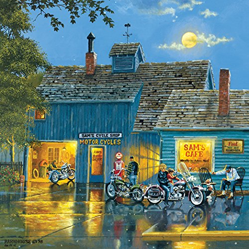 1000 Piece Retro Motorcycle Jigsaw Puzzle by SunsOut