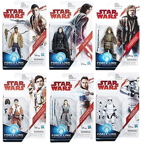 Star Wars: The Last Jedi Orange 3 3/4-Inch Action Figures Wave 1 Set of 6 (Luke Skywalker, Rey, Finn, Poe Dameron, Kylo Ren & Stormtrooper)