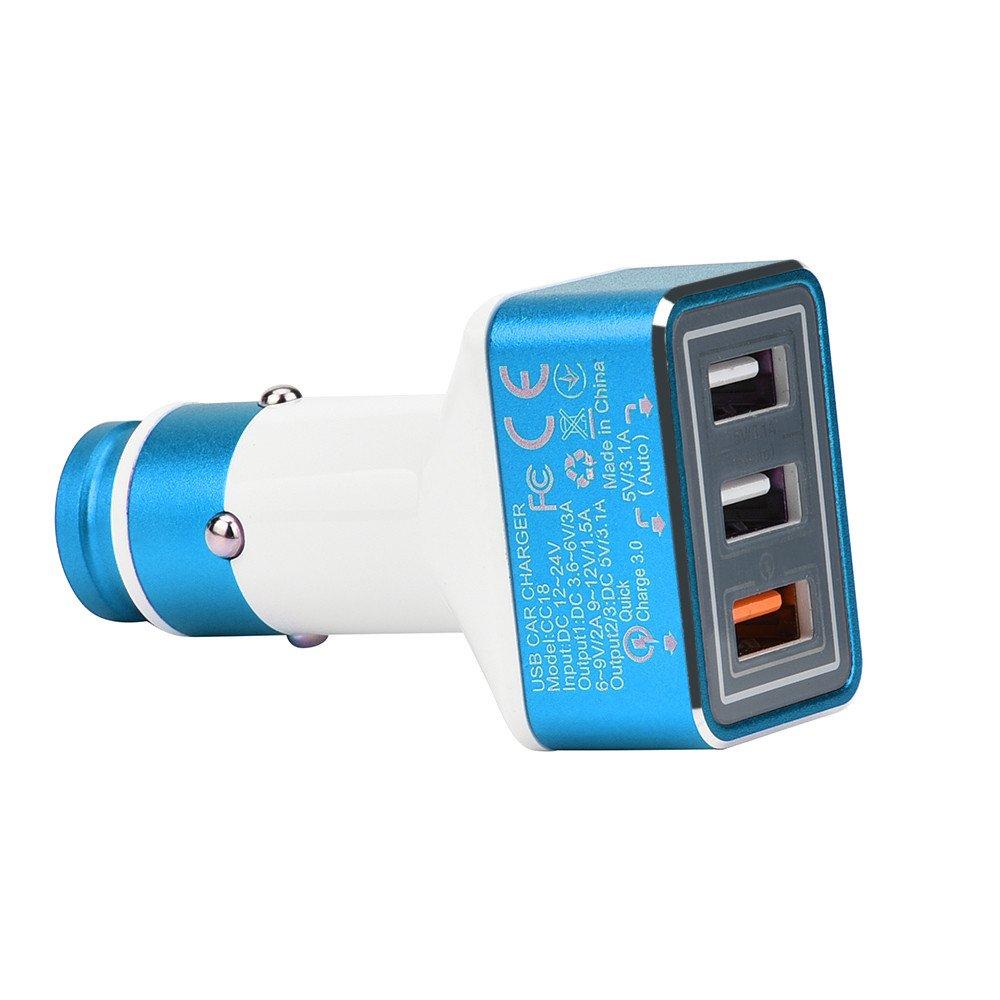 Amazon.com: Cargador de coche con triple puerto USB y ...