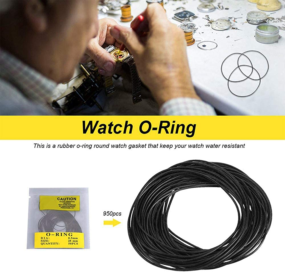 950 Stücke Uhren dichtungs satz O-Ring Zurück Fall Dichtungen 12-30mm