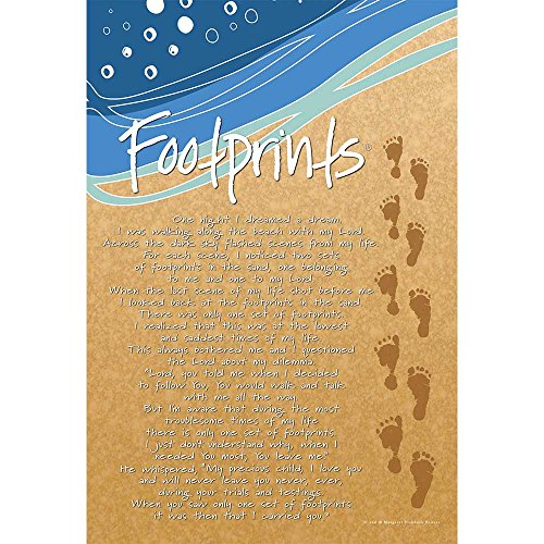 Dicksons Footprints In The Sand Sandy Brown 18 x 13 Inch Small Polyester Garden Flag (Footprints In The Sand Margaret Fishback Powers)