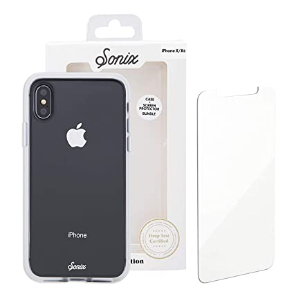 wholesale dealer dcfd9 70894 Sonix Clear Cell Phone Case and Tempered Glass Screen Protector [Military  Drop Test Certified] Clear Case and Screen Protector Bundle Pack for Apple  ...