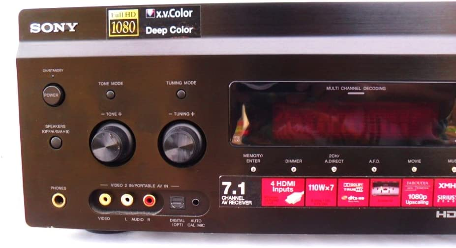 Sony STRDG1200 7.1 Channel Audio/ Video Receiver (Discontinued by Manufacturer),Black