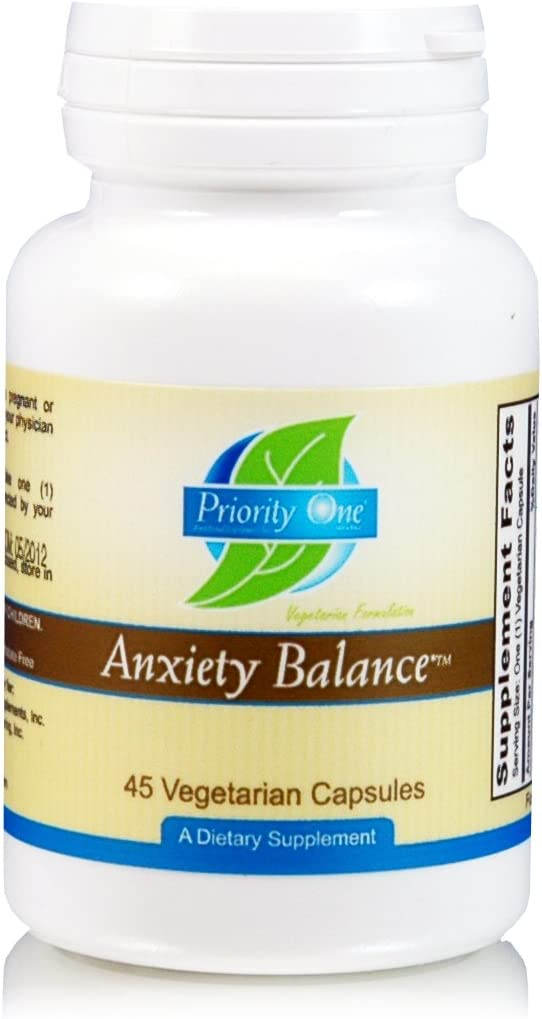 Priority One Anxiety Balance — 45 Vegetarian Capsules
