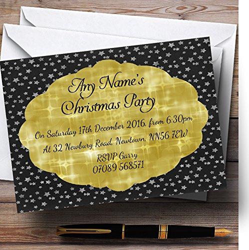 tienda en linea 90 Invitations Negro con oro oro oro Twinkle personalizado invitaciones para fiesta de Navidad  selección larga