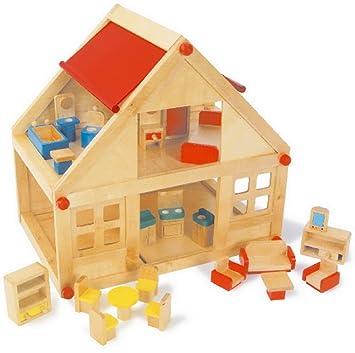 Small Foot Company 7253 - Pequeña casa de madera, 2 plantas , Modelos/colores
