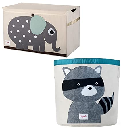 Bundle Includes 2 Items   3 Sprouts Toy Chest, Elephant, Grey And 3 Sprouts