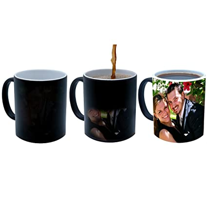 e92cb244fe7 ANJALIS Black Color Changing Magic Photo Mug - Customized or Personalized  With Photo