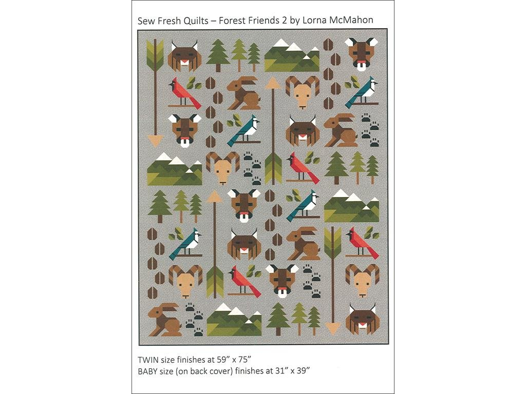 Sew Fresh Quilts Ptrn Forest Friends 2.0 Pattern by Sew Fresh Quilts