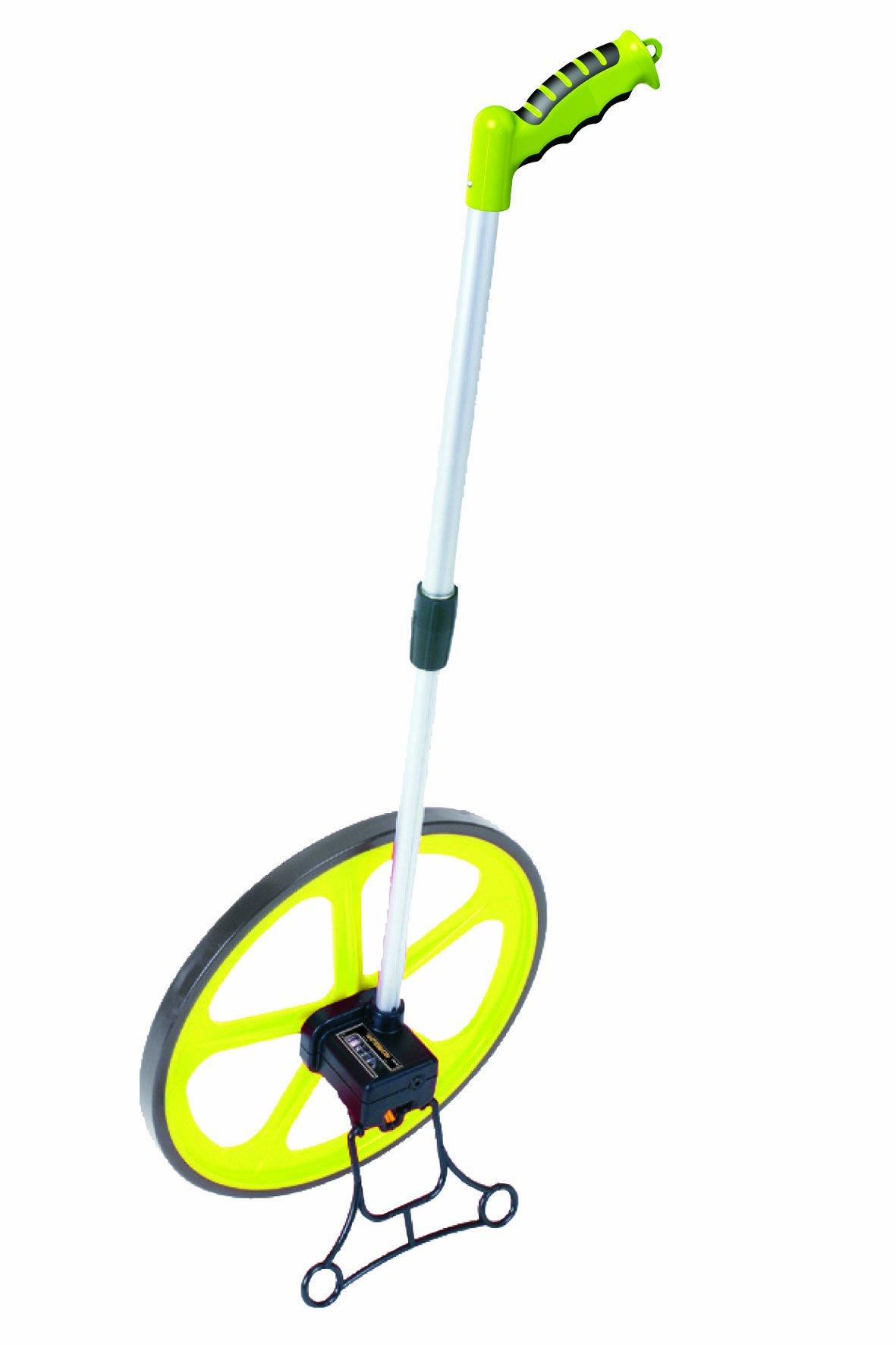 Mutual 17702 W45 Series Komelon Mechanical Measuring Wheel with Kickstand, 14.3'' Diameter, Feet/Inches