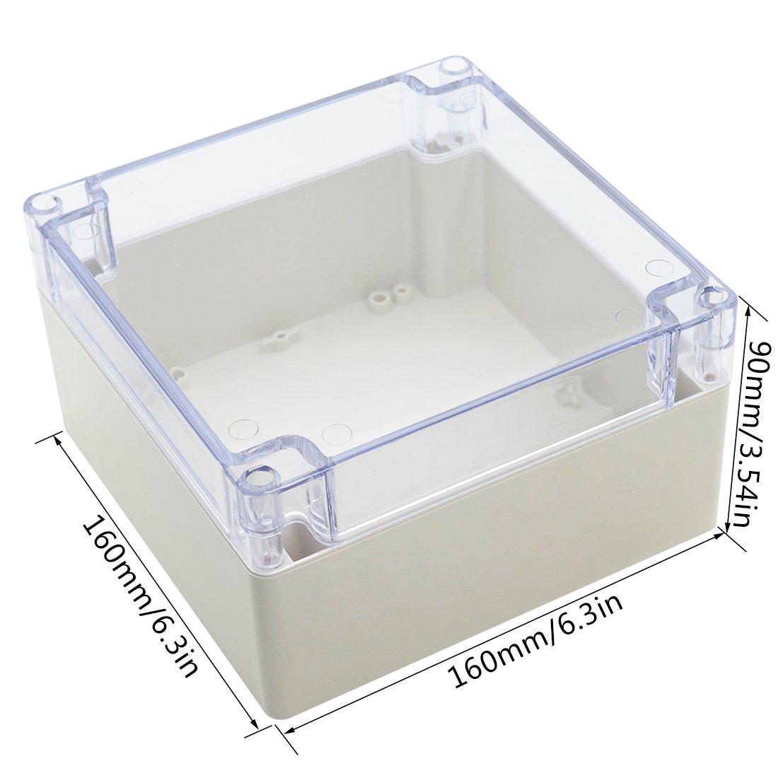 Lemotech Abs Plastic Junction Box Dustproof Waterproof Ip65 Industrial Electrical Enclosure Universal Project Grey