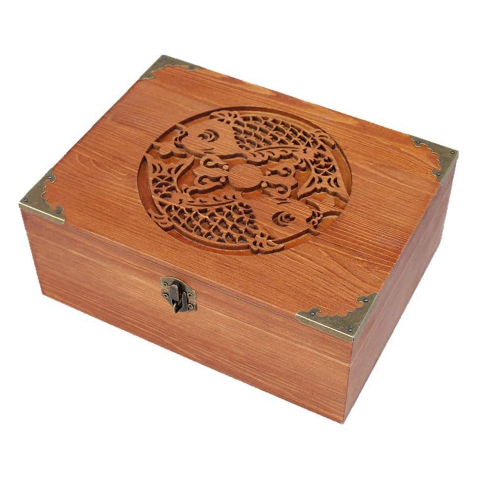 ZAQXSW Hind Handicrafts Beautifully Handmade & Handcrafted Rosewood Borders Engraving Wooden Cremation Box/Urns for Human Ashes Adult, Funeral Urn Box (Medium) by ZAQXSW