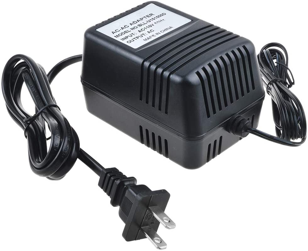 SupplySource 9V AC Adapter Replacement for Black and Decker PD600 6V PIVOTPLUS B&D PD 600 Type 1 2 II 6VDC Drill Driver 90500902-01 90500902 5102767-03 PD700G PD600G 9VAC 100mA Class 2 Power Cord