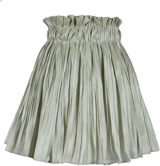 Vovotrade Falda Corta Cintura elástica Falda Coreana Falda Plisada ...