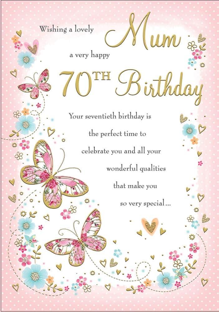 Lovely Verse 70th Birthday Card