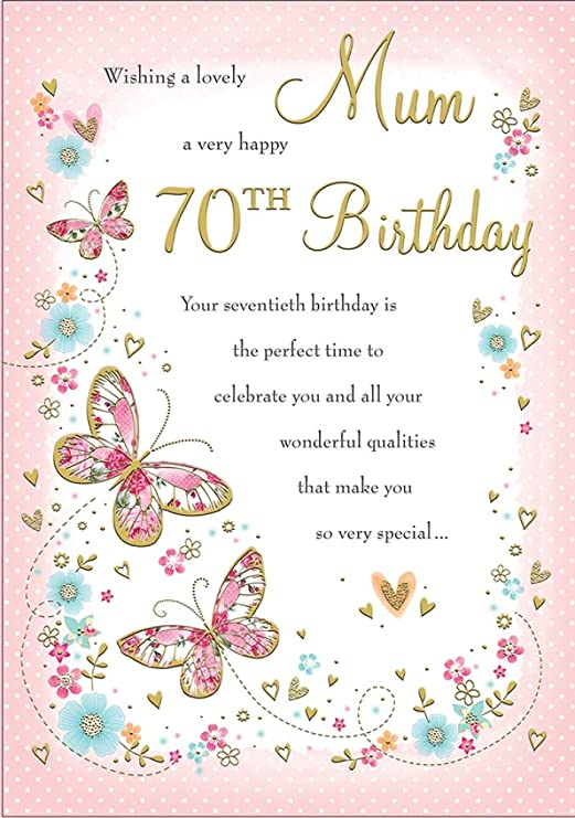 Grandma 70º cumpleaños, diseño con texto en inglés Lovely ...
