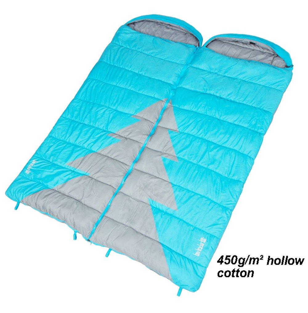MUTANG カップルダブル寝袋大人の屋内冬厚い暖かいキャンプ旅行フォーシーズンズホテル寝袋様々な厚さオプション B07DQLJJZK 250g