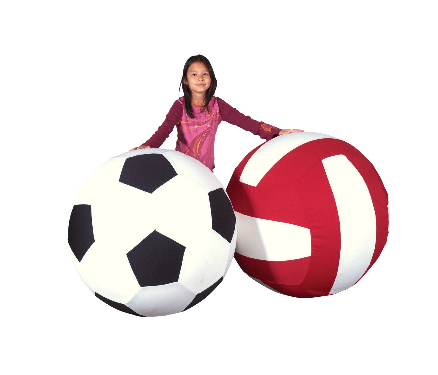 Sportime Giant Ball with Washable Cover - Soccer - 40 inches
