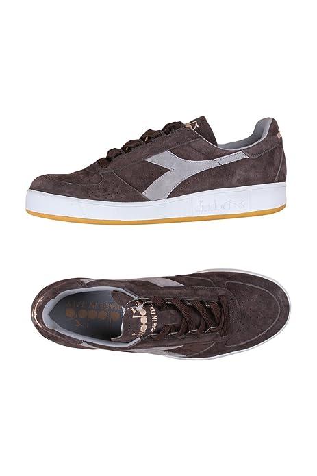 Marrone elite B Diadora Sneakers Gomma E Tonda it Punta Scarpe Stringhe Italia 42 Borse Amazon Suola Uomo Di E7wqf1w4