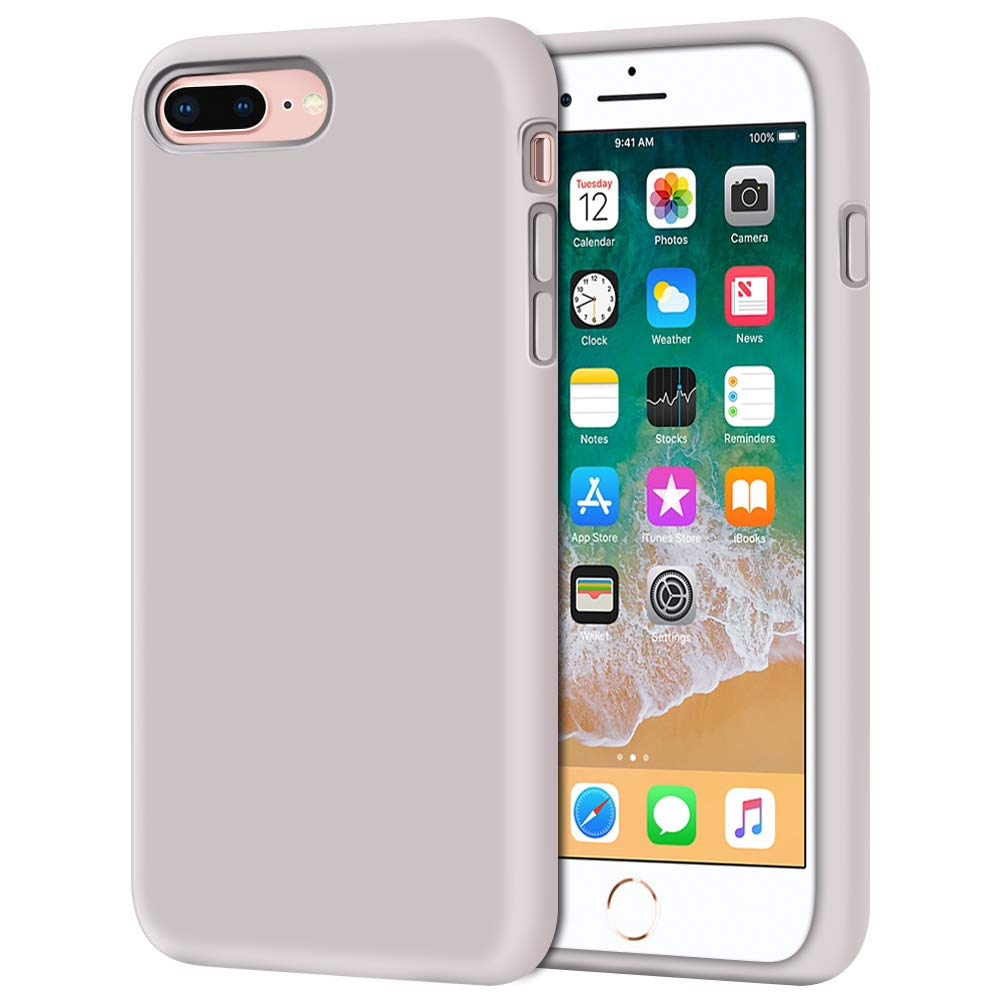 "iPhone 8 Plus Case, iPhone 7 Plus Case, Anuck Soft Silicone Gel Rubber Bumper Case Microfiber Lining Hard Shell Shockproof Full-Body Protective Case Cover for iPhone 7 Plus /8 Plus 5.5"" - Lavender"
