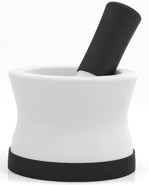 5 opinioni per Mortaio E Pestello EZ-Grip In Silicone E Ceramica Con Base Rimovibile In