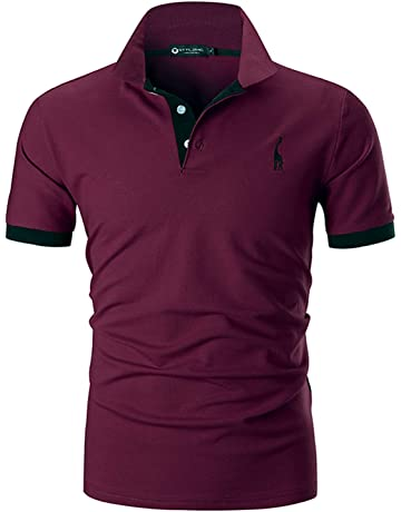 131f63ceed27 STTLZMC Mens Casual Short Sleeve Polos Tennis Golf Classic Polo Shirts